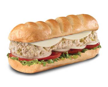 tuna sandwich at sub shop