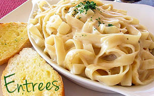 Tuscany Italian Restaurant has many authentic Italian entrees to choose from.  Pastas, sauces, seafood, chicken, veal & house specialties