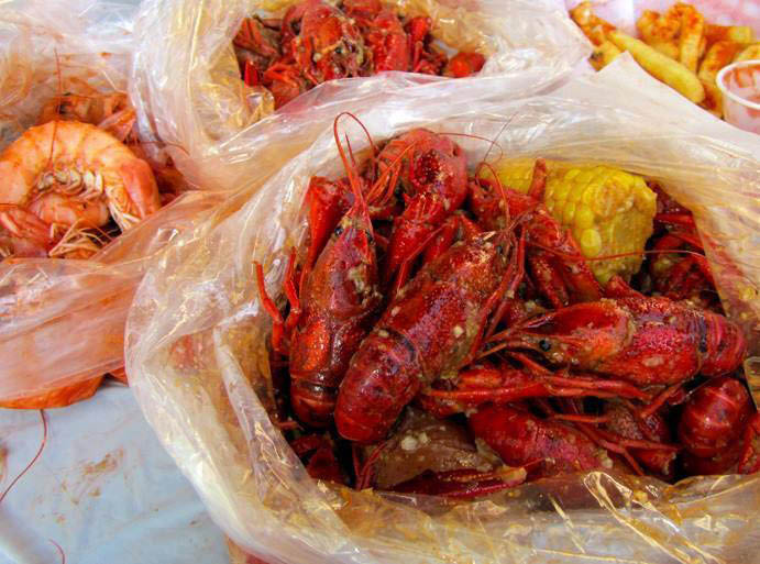 The twister sauce in crawfish and shrimp seafood boil bag