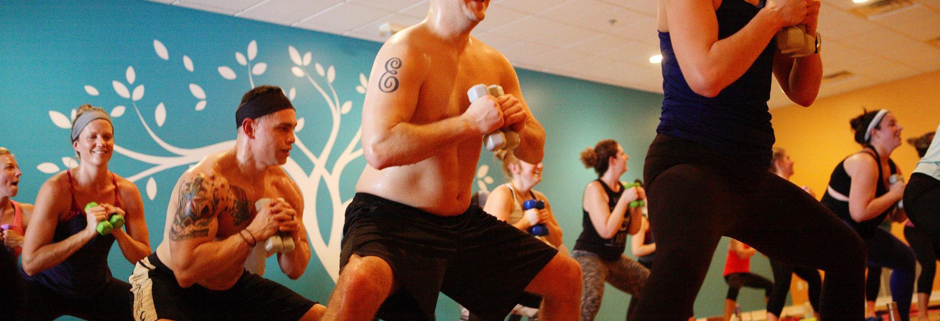 yoga class at twisted hot yoga studio