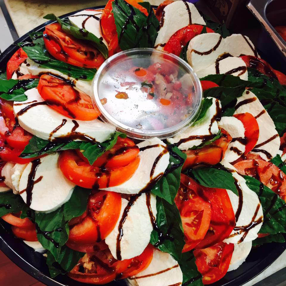 Delicious garden veggie salads with fresh spices and herbs
