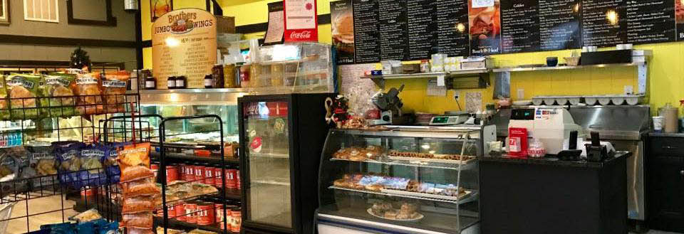Two Brothers Deli interior of store photo banner