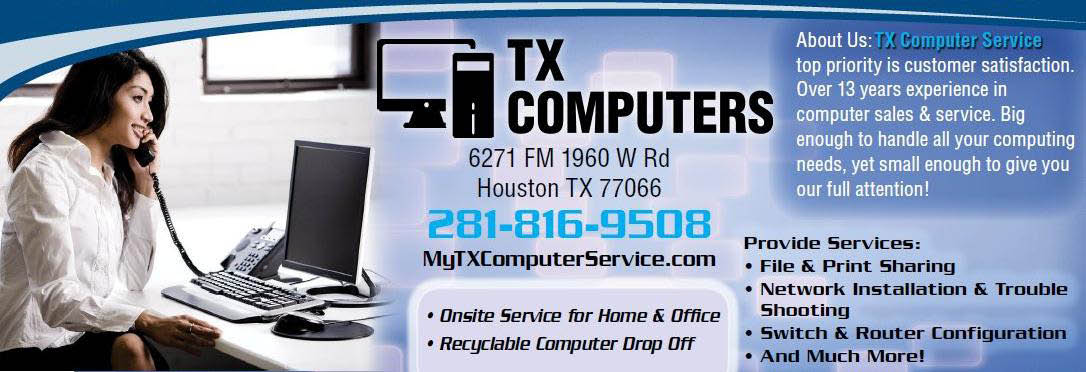 TX Computers in Houston, TX banner ad