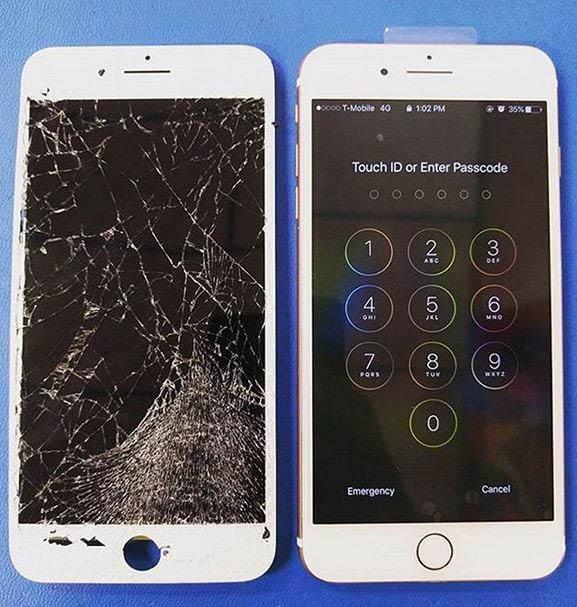 Cracked screen in need of repair