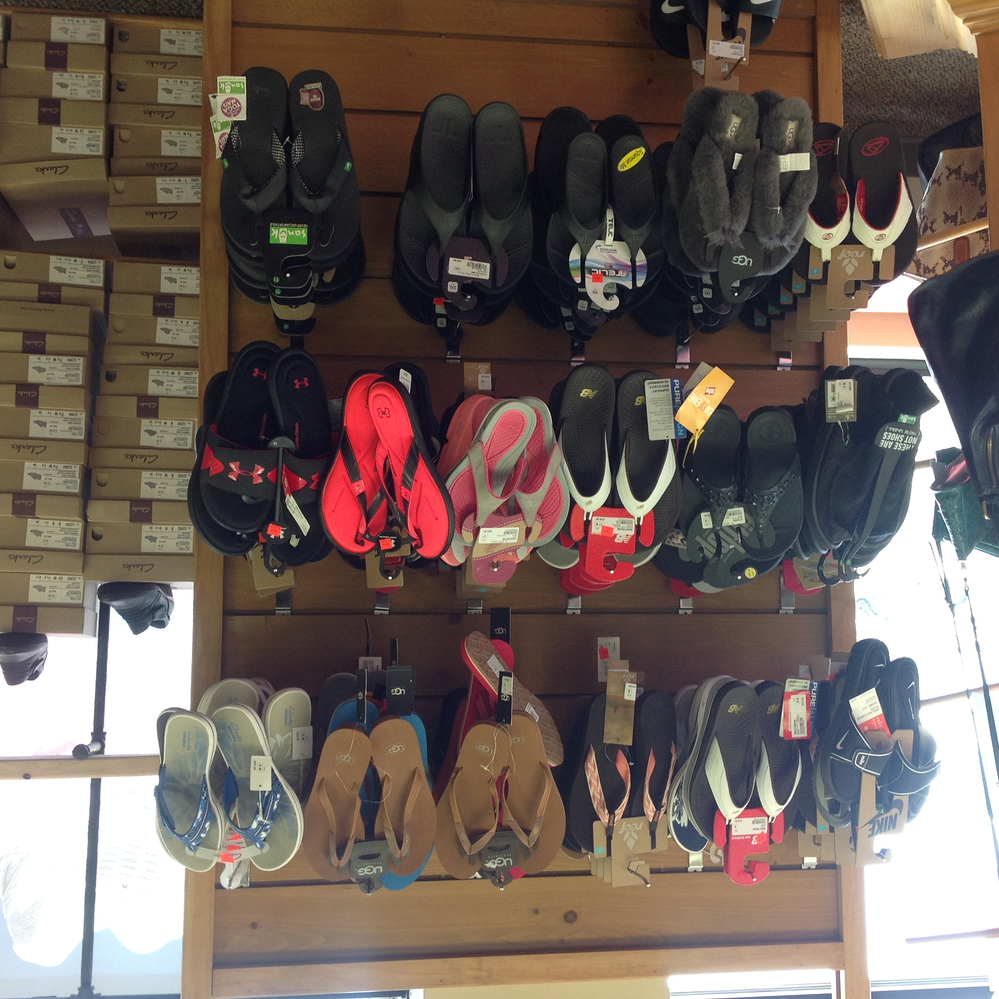 Flip flops at Brown's Shoe Fit Company in Ankeny, Iowa