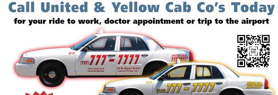 United & Yellow Cab Co's today for all your transportation needs
