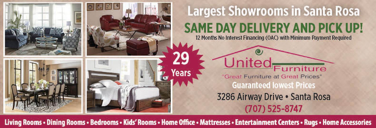 United Furniture Santa Rosa In Santa Rosa CA Local Coupons - Bedroom furniture santa rosa ca