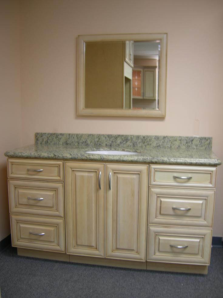 bathroom cabinetry and sink countertop