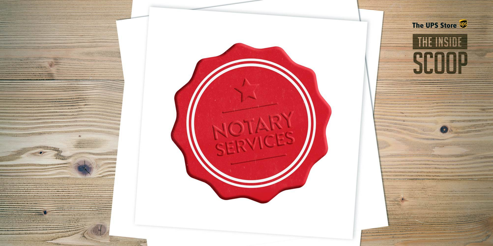 notary seal image; notary service available at The UPS Stores in California