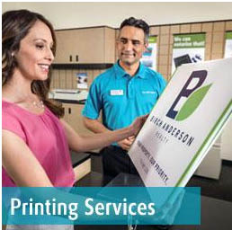 Small color copies or wide format printing