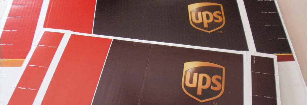 Use UPS for all your package and shipping deliveries banner