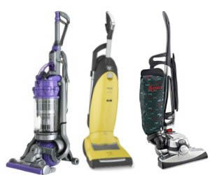 Upright vacuum cleaners at Clark Vacuum
