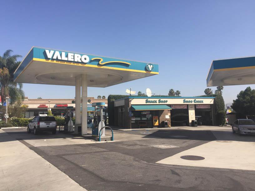 Valero gas station and emission testing near Norwalk