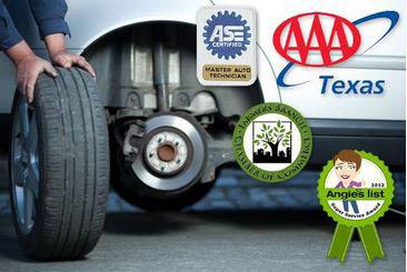 new tires; tire installation; wheel alignment; Dallas car care