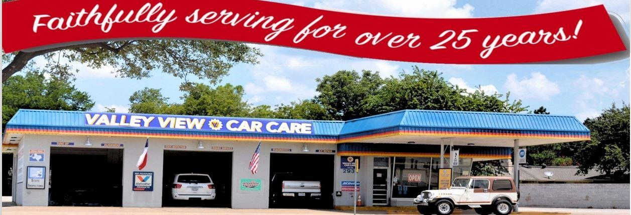 Valley View Car Care in Dallas, TX banner