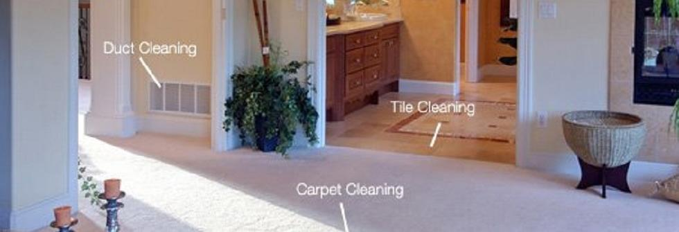 Carpet cleaning, tile cleaning and duct cleaning inside the home