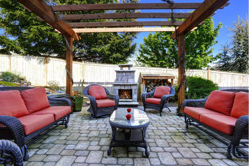 Paving a patio area is a way to have the outdoors act as an extension to your home
