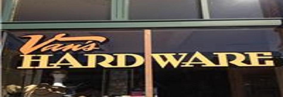 Van's Hardware in Long Beach, CA banner