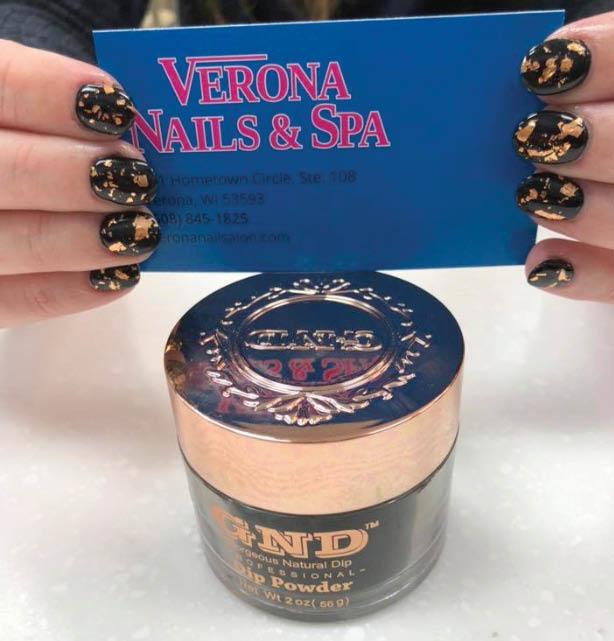 pair of hands showing off acrylic nails at Verona Nail & Spa