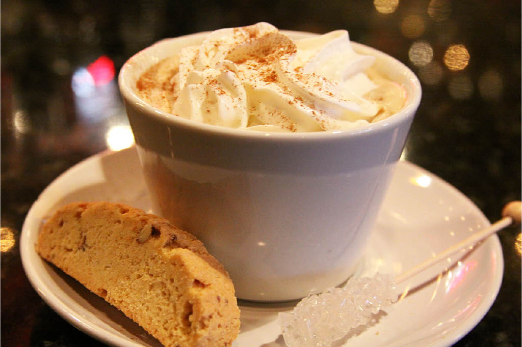 Try a cappuccino and biscotti to finish your meal