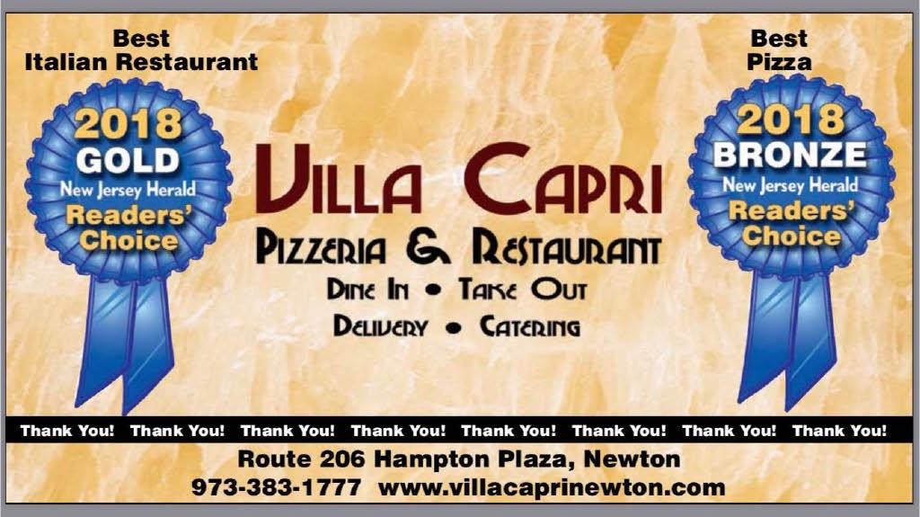 Villa Capri Pizzeria, Newton NJ