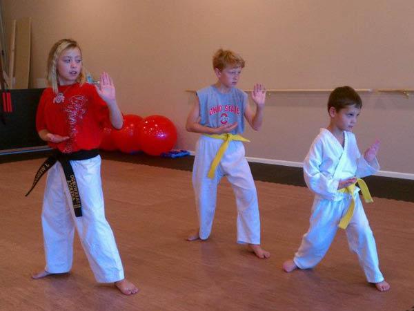 Village Taekwondo teens