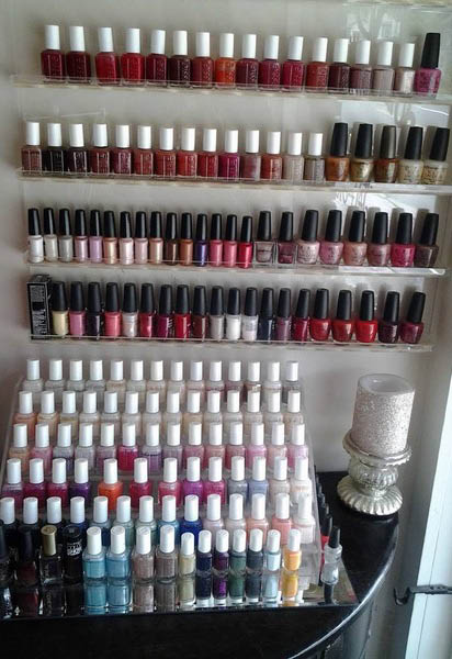 Nail Polish color selection at Village Salon & Boutique in Long Valley NJ