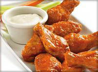 Chicken wings with Vince's homemade dipping sauce