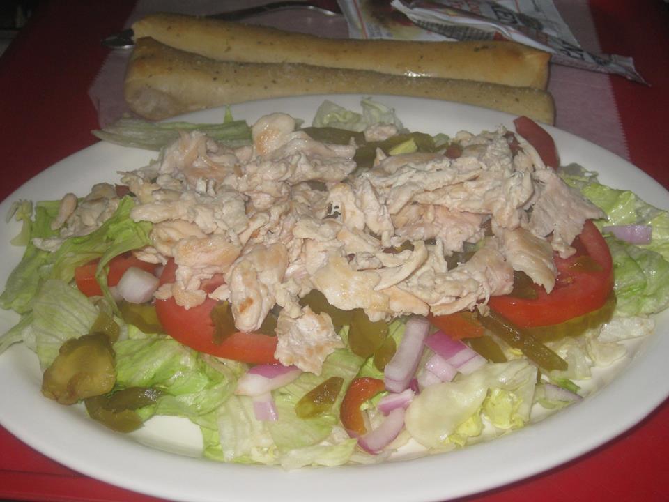 Chef salad, Greek Salad, Chicken Salad, Garden Salad