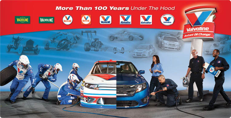 Valvoline Instant Oil Change has more than 100 years under the hood