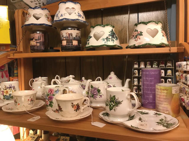 tea sets, candles, violets & more