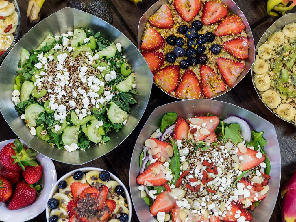 Vitality Bowls fresh ingredients
