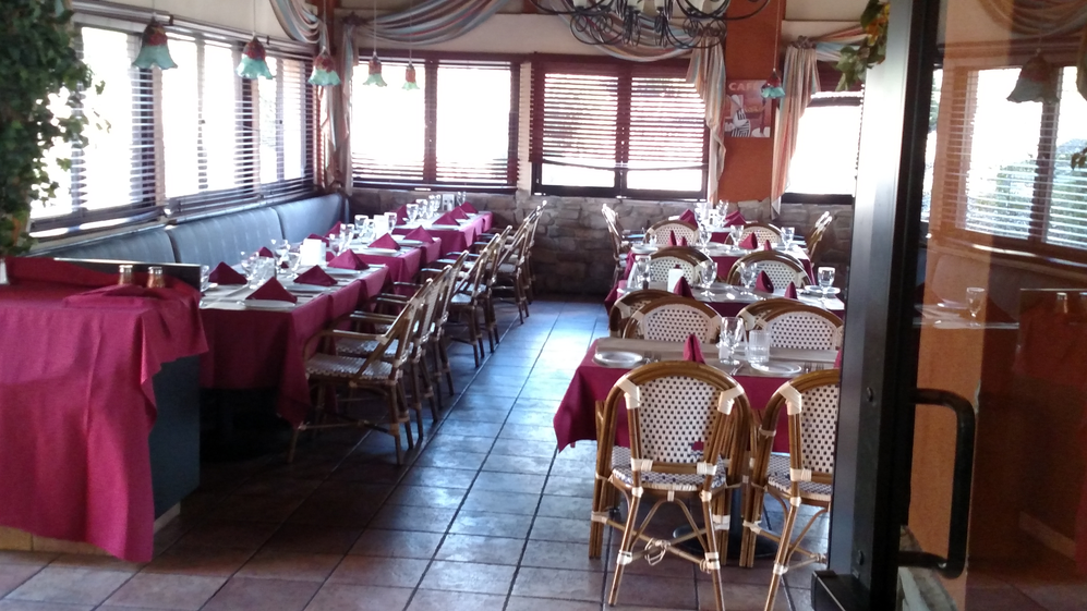 Vittorio's dining area reserved for a special event