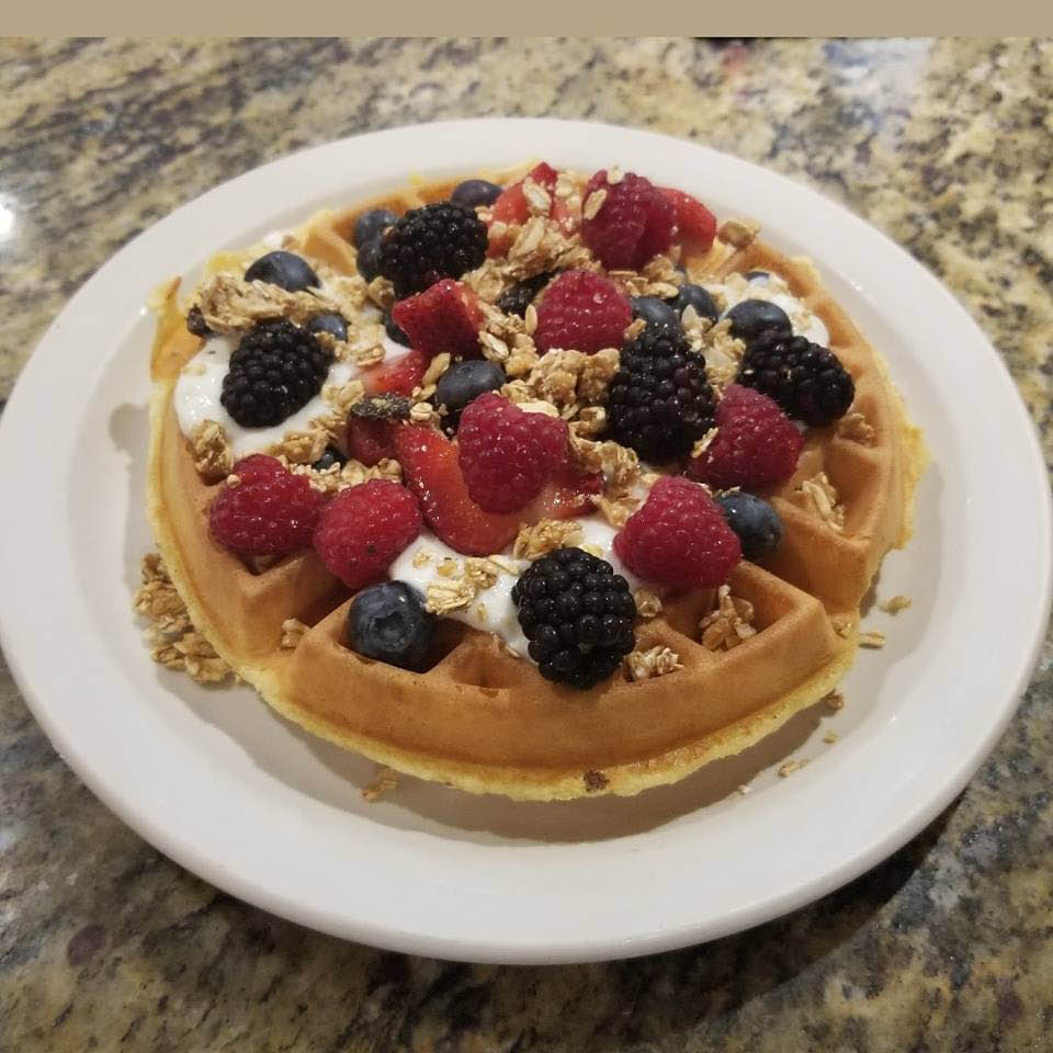 Homemade waffle at Red Apple of Palatine
