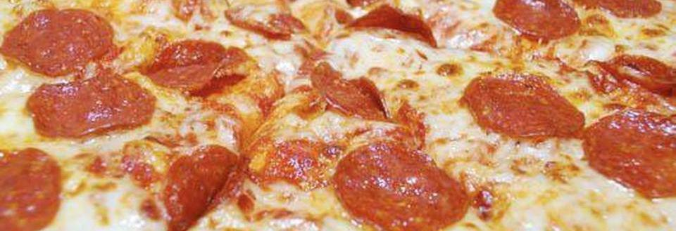 Pepperoni pizza served at Waldo Cooney's located in Worth, IL.