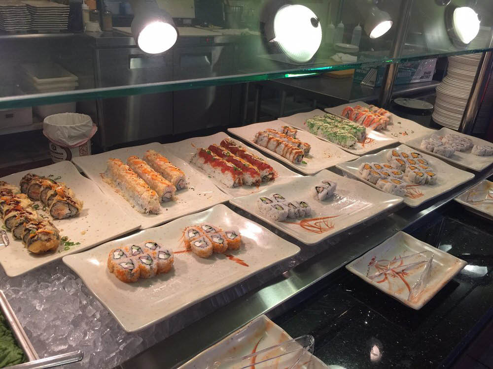 Sushi buffet with the best selection of rolls