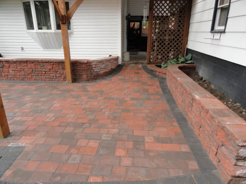 New Pavers installed to put in a pergola