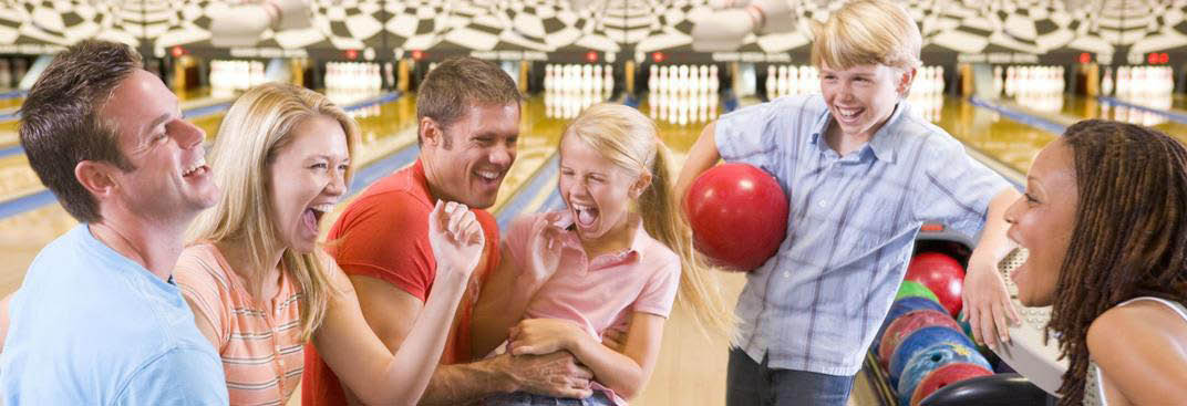 Family fun bowling at Warren Lanes, Phillipsburg, NJ.