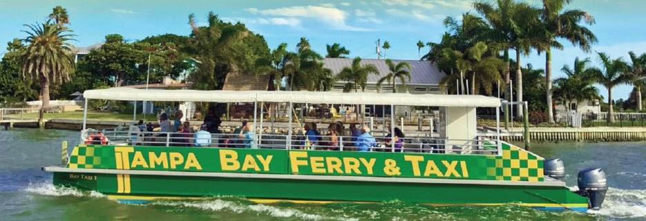 no traffic jams on the water ferry Madeira beach to johns pass water taxi available