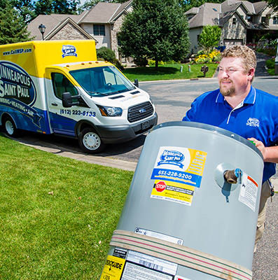 Minneapolis Saint Paul Plumbing Heating Air hot water heater installation