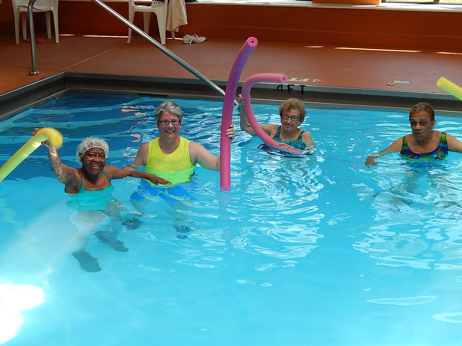 Aquacise class in our spacious pool at Waterford Estates.