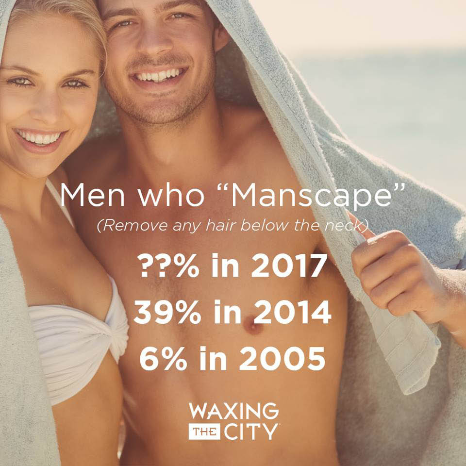 Men's chest waxing from Waxing The City in SC