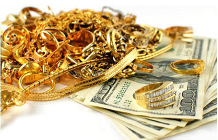 Picture of Gold Jewelry & Cash