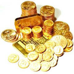 Gold Coins & Bouillon with Cash