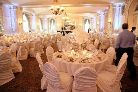Beautiful wedding chair and table arrangement for All Star Rentals in New Berlin.