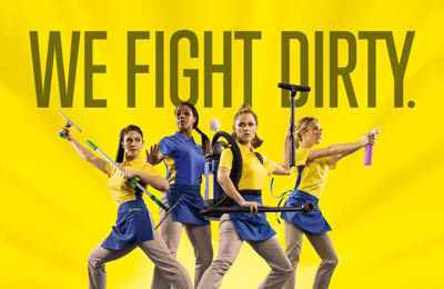 We Fight Dirty Sign from The Maids in Santa Maria, CA; home cleaning services.