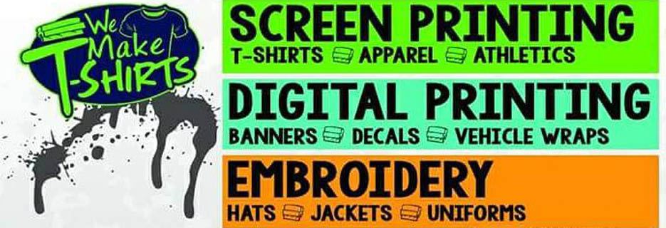 We Make T-Shirts banner in Racine, WI