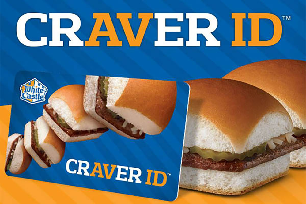 White Castle Craver ID rewards card.
