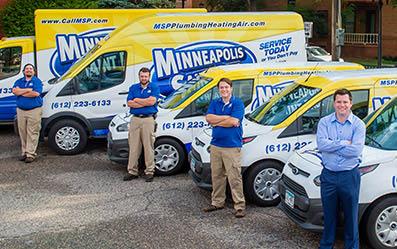 Minneapolis Saint Paul Plumbing Heating Air trucks