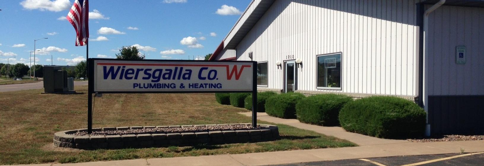 Wiersgalla Plumbing & Heating Company banner Eau Claire, WI
